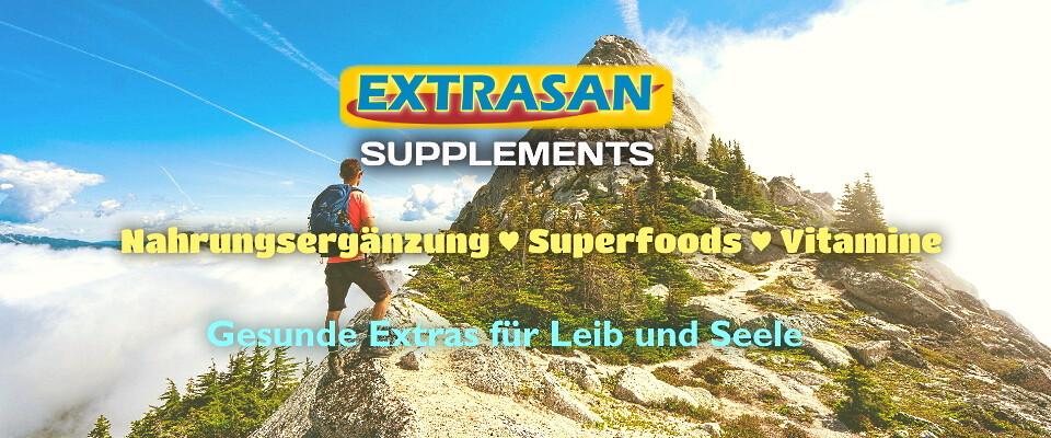 EXTRASAN Supplements  -  Gesunde Extras für Leib und Seele - Nahrungsergänzungsmittel | 10 Jahre EXTRASAN Supplements