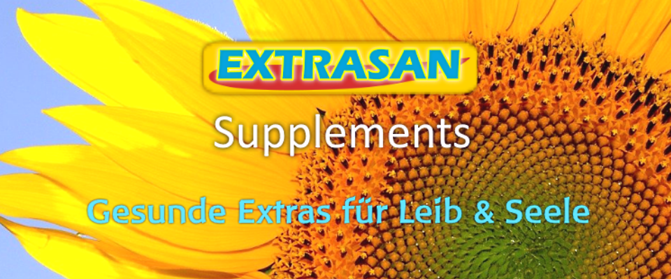 Nahrungsergänzungsmittel, Superfoods und Vitamine - Fitness Supplements von EXTRASAN